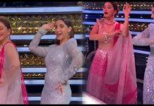 madhuri dixit dances on nora fatehi song dilbar vidoe viral - Trishul News Gujarati Breaking News