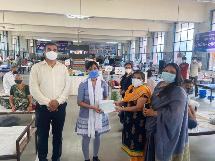 a large donation made by a retired female professor for serving workers surat trishulnews2 » Trishul News Gujarati Breaking News surat