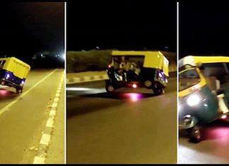 ahmedabad live stunt video rickshaw driver performs dhoom style stunt odhav ring road » Trishul News Gujarati Breaking News