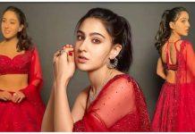 sara ali khan look gorgeous in 98k rs red sequinned lehenga choli see pics trishulnews » Trishul News Gujarati Breaking News