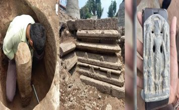 shivling found in the temple premises during excavation further excavation will be done under the supervision of archaeologists » Trishul News Gujarati Breaking News