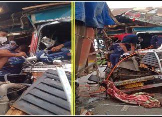 vadodara accident between two trucks traffic jam » Trishul News Gujarati Breaking News