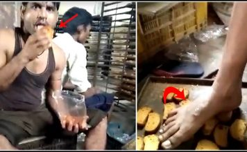 viral video man spit on the toast and packed video went viral angry netizens gave reactions trishulnews » Trishul News Gujarati Breaking News